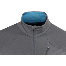 Icebreaker M's Fluid Zone LS Zip Shirt monsoon/mediterranean